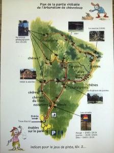 carte de l'Arboretum