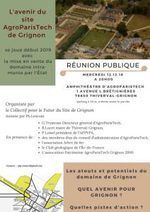 2018.12.12_Avenir du site AgroParisTech de GRIGNON_réunion publique