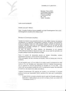 2019.07.31 _ EP ZAC Satory Ouest _ Courrier au commissaire enquêteur _ page 1