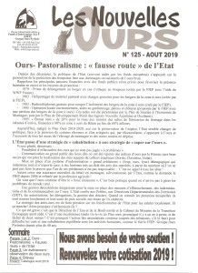 NOUVELLES OURS n°125 - FIEP Groupe Ours Pyrénées - 2019 _ page 1
